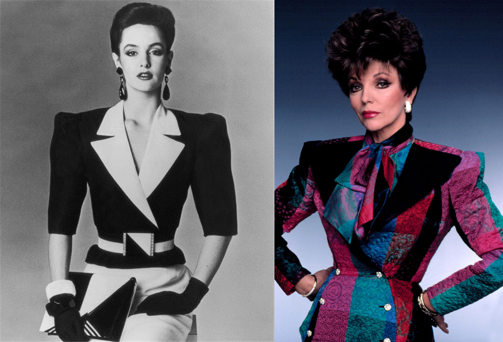 shoulder pads fashion history